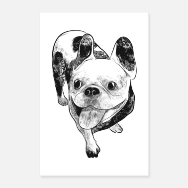 441ad94d Bulldog Morsom søt fransk bulldog morsom hundhumor - Poster