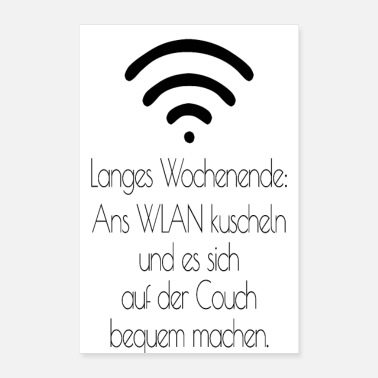 Long Long week-end: câlin au Wi-Fi - Poster 40 x 60 cm