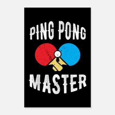 Ping Pong Player Table Tennis Ping Pong Table Tennis Player Gift - Poster