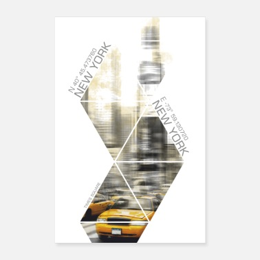 Transport Modern Art TIMES SQUARE coordinates - Poster 16 x 24 (40x60 cm)