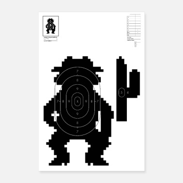 Video Retro Video Game Shooting Target - Western Man - Poster