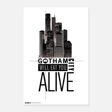 Batman Gotham City Will Eat You Alive - Poster