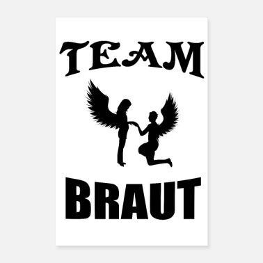 Hens Night Team Bride Hen Party Bridal Couple - Poster