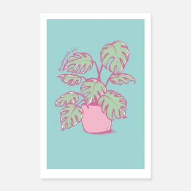 Bloom Monstera - Poster