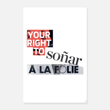 Recycling Your right to soñar_PilouB.-Poster - Poster