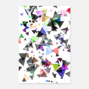 Minimalistic Abstract kust minimalist triangle - Poster