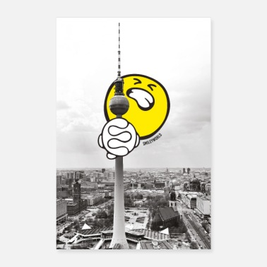 Television SmileyWorld Berlin Television Tower - Poster