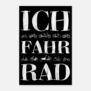 Downhill lustiges Fahrrad Mountainbike Rennrad Bike Poster - Poster