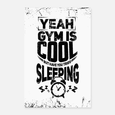 Gymnasium Funny fitness T-shirt for loafers - Poster