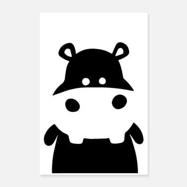Cute hippopotamus, Hippo as poster, cute animals - Poster