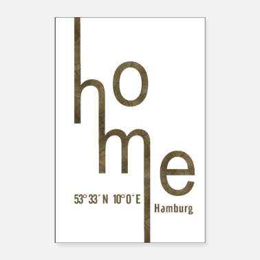 Degree Home, Hamburg with coordinates - Poster
