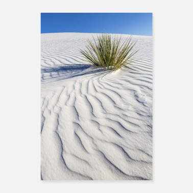 Sea Wave drawing of the dunes, White Sands - Poster
