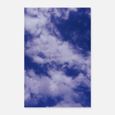 Blue sky blue sky with clouds - Poster