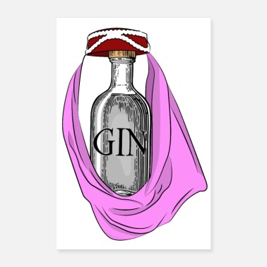Enchanted Enchanting GINie Gin and Tonic pun - Poster