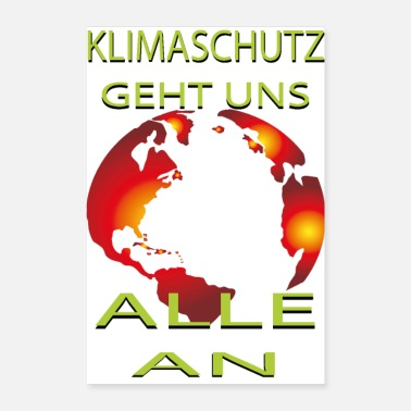 Fair Klimaschutz Klimawandel friday for future Öko - Poster