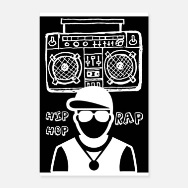 Rapper THE RAPPER and the sound system - Poster