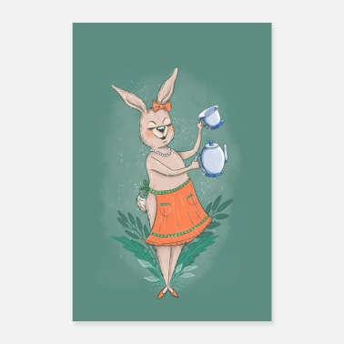 Lovely Tea Time With Miss Rabbit - Poster
