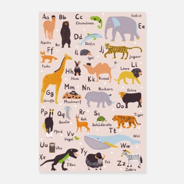 Animal Abc ABC poster animals nursery to school - Poster