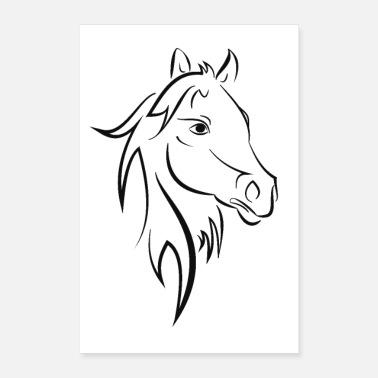 Stall horse - Poster