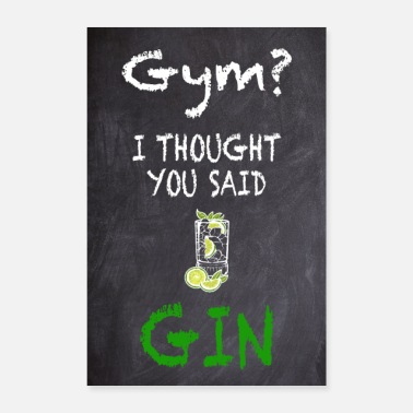 Gym Gym Gin Motivation Cocktail Bar Drinks Drink Bar - Poster