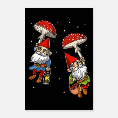 Trip Magic Mushrooms Gnomes Trip - Poster