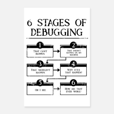 Stage 6 Stages Of Debugging - Poster