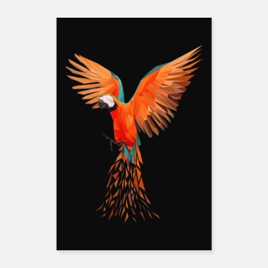Origami Geometric origami parrot - Poster