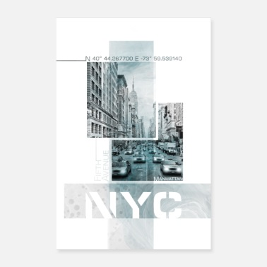 Poster Art NYC Fifth Avenue | Marmor turkis - Poster