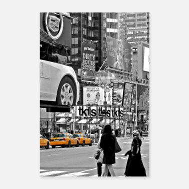 United NYC Yellow Cabs TimeSquare HIGH - Affiche - Poster