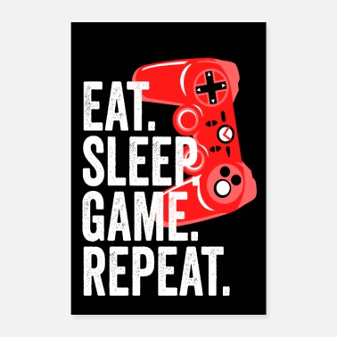 Controller Eat Sleep Game Boys Girls Gamer cadeau-idee - Poster