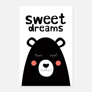 Babyparty Sweet Dreams - Teddy Bear - Poster