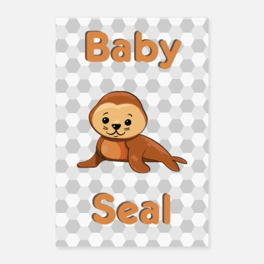 Seal Baby Seal Seal Seerobbe Seal Baby Animal - Poster