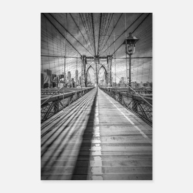 York NEW YORK CITY Brooklyn Bridge - Poster