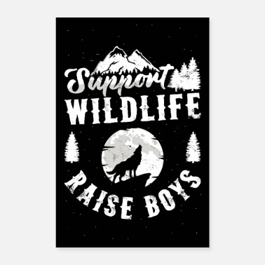 Vuori Tuki Wildlife Raise Boys Juliste Mom Dad Mother - Juliste