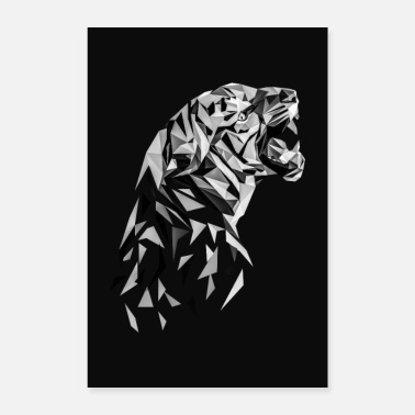 Polygon Tiger Low Polygon Tiger Low Poly Tiger - Poster