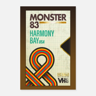 Monster 1983 Plakat Harmony Bay - Poster