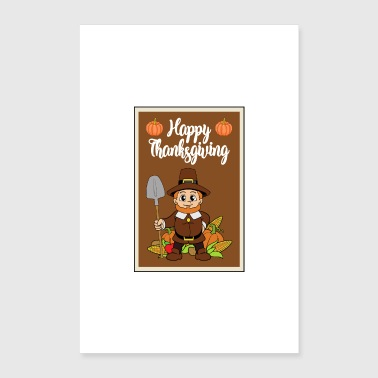 Thanksgiving turkey turkey thanksgiving - Poster 16 x 24 (40x60 cm)