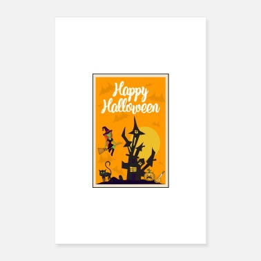Mummy Halloween pumpkin witch cat - Poster 16 x 24 (40x60 cm)
