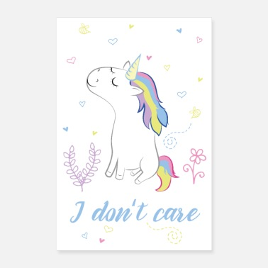 Care I do not care - Poster 16 x 24 (40x60 cm)