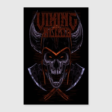 Viking Blood Odin Walhalla Viking-lahja - Juliste 40x60 cm