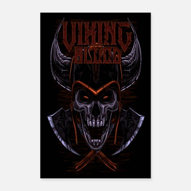 Kirves Viking Blood Odin Walhalla Viking-lahja - Juliste 40x60 cm