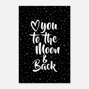Collections LOVE YOU TO THE MOON & BACK - Poster 40x60 cm