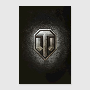 Logo World of Tanks WoT - Poster 40 x 60 cm