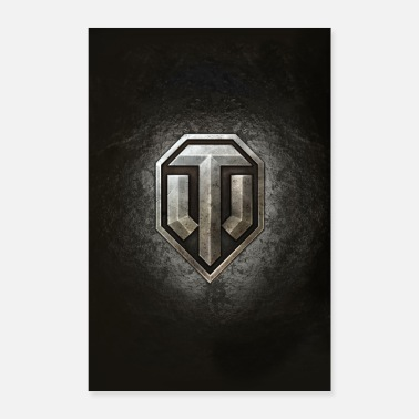 Online World of Tanks WoT logo - Poster 16 x 24 (40x60 cm)