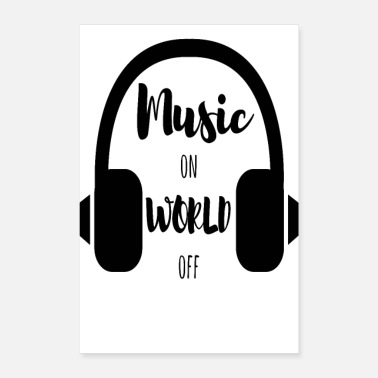 Music on World off SW POSTER - Poster 40x60 cm