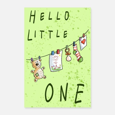 Babyshower Hello Little One Baby Poster - Poster