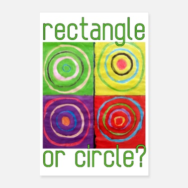 Rectangle Rectangle ou cercle - Poster 40 x 60 cm