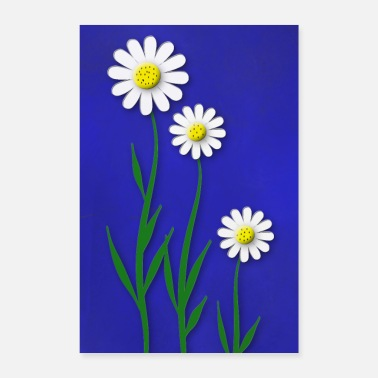 Painting Painted flowers - Poster