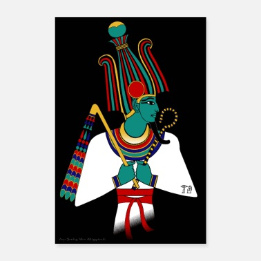 Ancient POSTER: Osiris, ancient Egyptian deity - Poster 16 x 24 (40x60 cm)