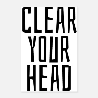 Headbanger Clear your head - Poster